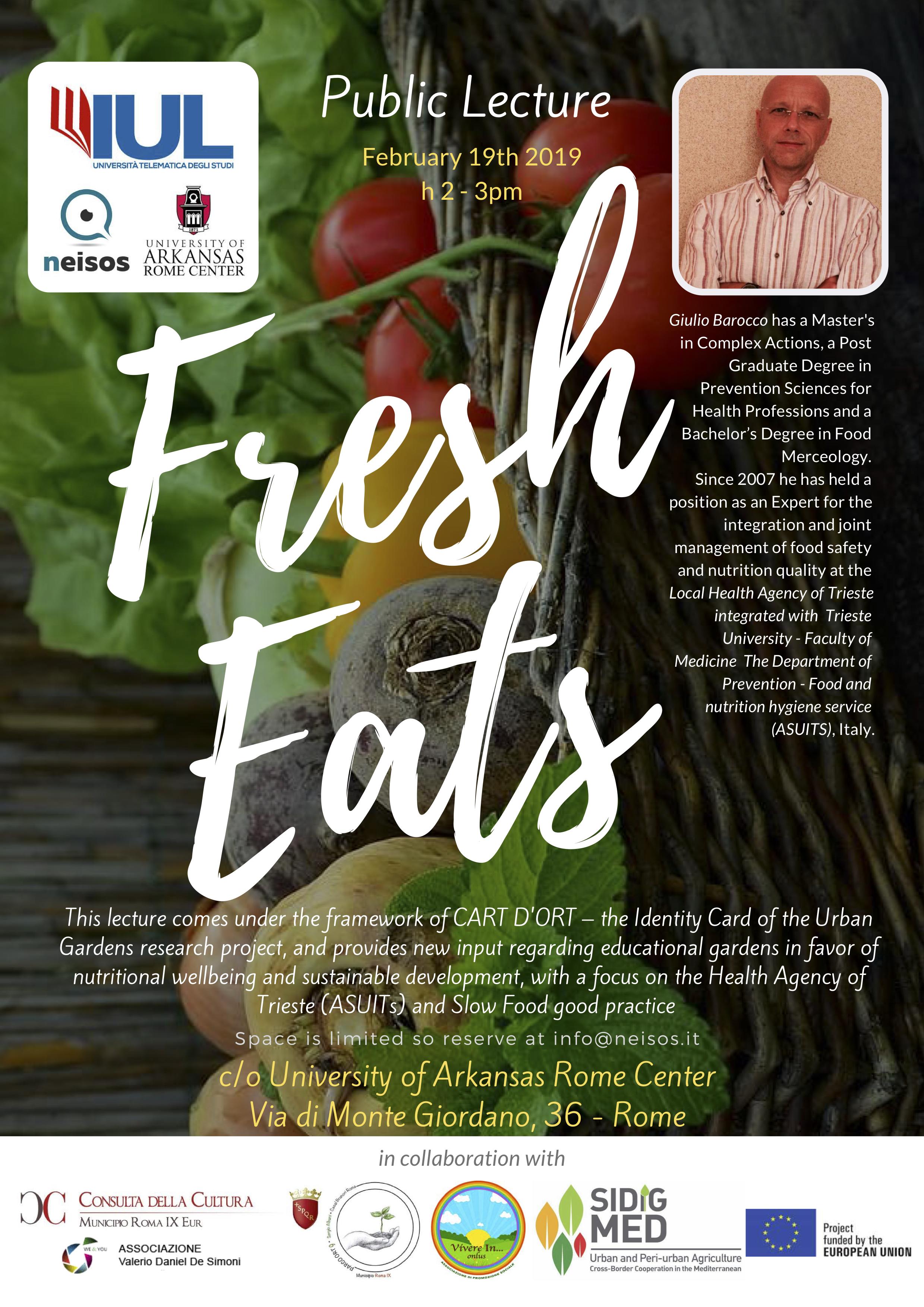 Fresh Eats La Salute E Il Benessere In Relazione Al Consumo Di Alimenti Freschi Neisos